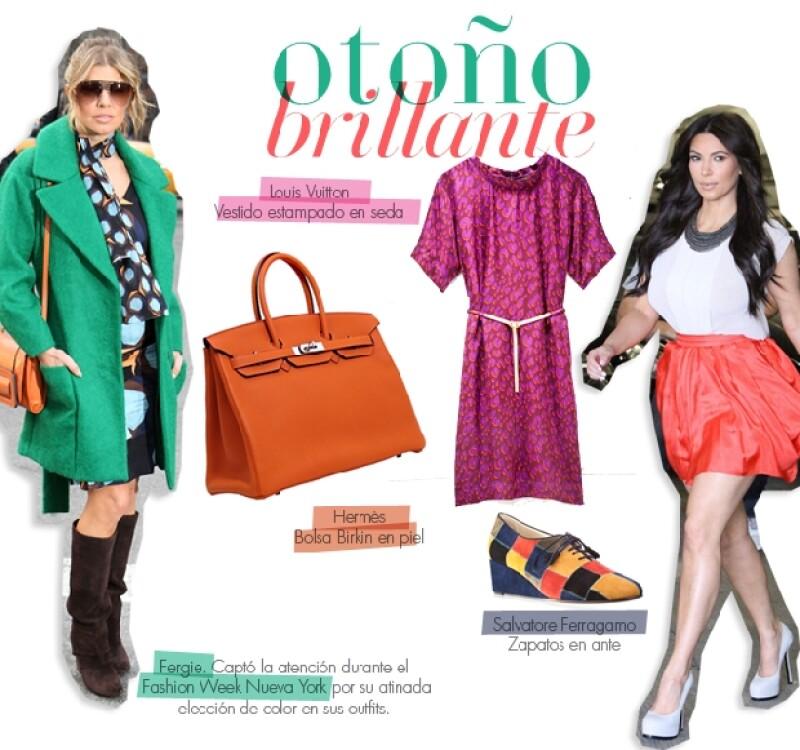 Fergie captó la atención durante el Fashion Week Nueva York por su atinada elección de color en sus outfits.