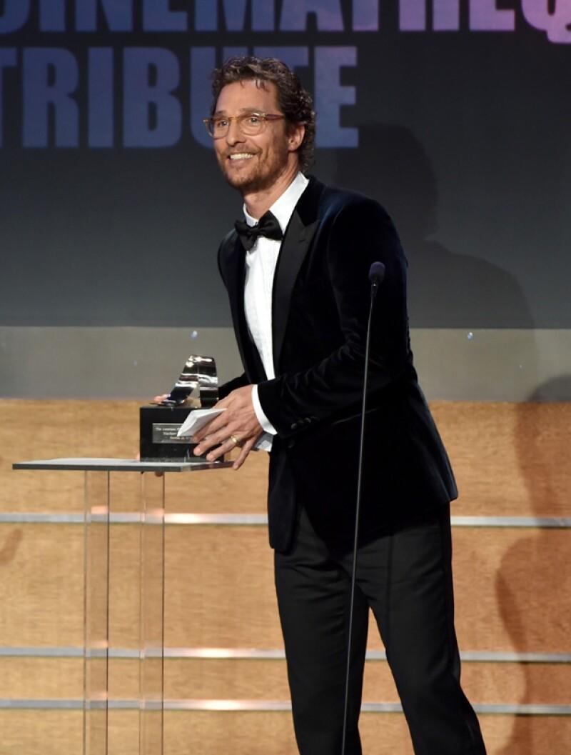 El actor recibió un premio por su carrera en cine y televisión.
