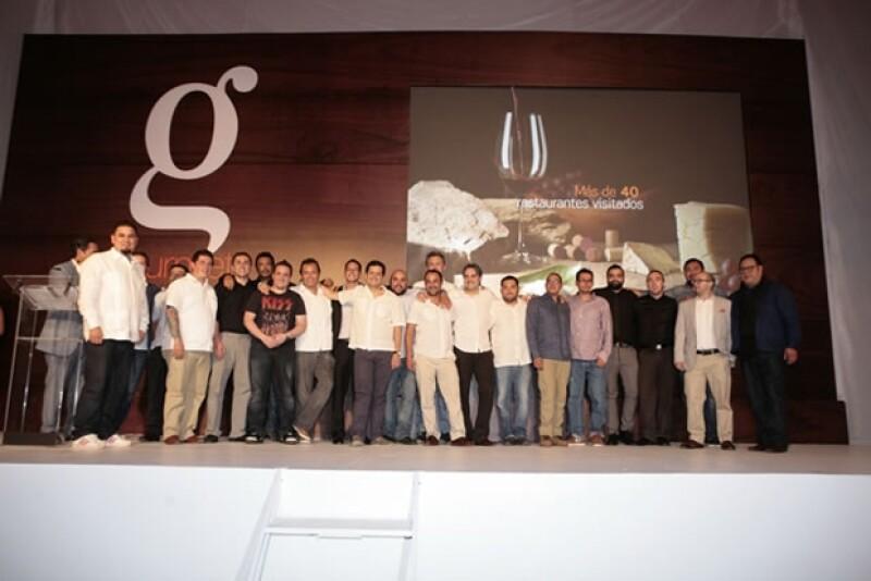 Los ganadores y nominados de la tercera edición de los Gourmet Awards.