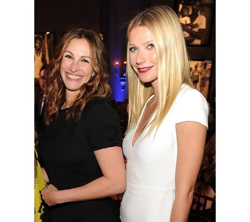 Julia Roberts y Gwyneth Paltrow figuraron entre las invitadas de la noche.