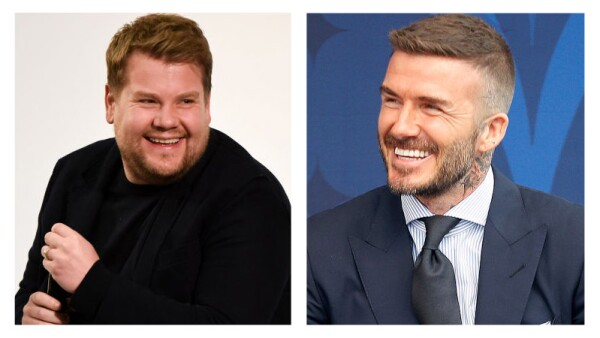 James Corden y David Beckham