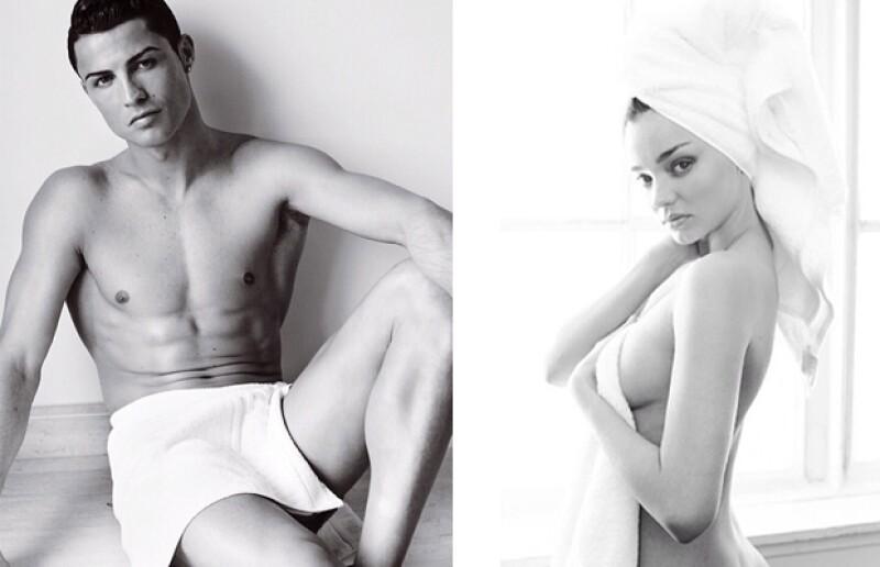 Hot! Aunque estamos acostumbrados a ver a Cristiano Ronaldo y a Miranda Kerr con poca ropa, tenemos que admitir que el fotógrafo peruano los retrató muy bien.
