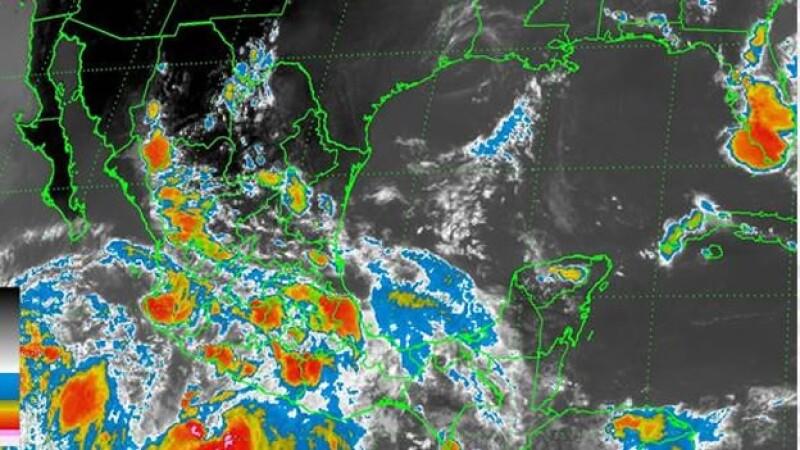 Las bajas presiones que afectarán con lluvias a México en las próximas horas, según el SMN