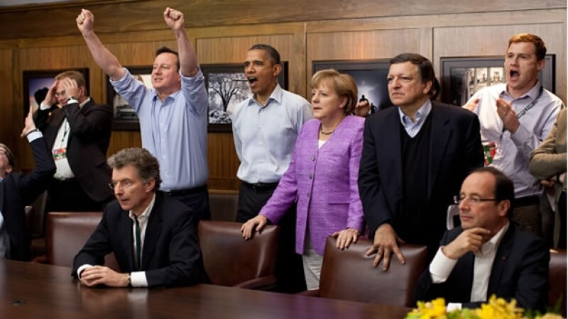 presidentes viendo futbol
