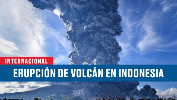 Así fue la erupción del volcán Sinabung en Indonesia
