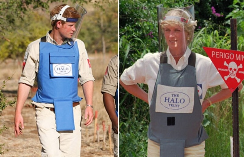 El miembro de la realeza inglesa viajó a Angola donde contribuyó desactivando minas antipersona como lo hizo su madre seis meses antes de morir.
