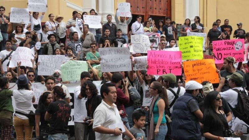 marcha anti peña en xalapa veracruz
