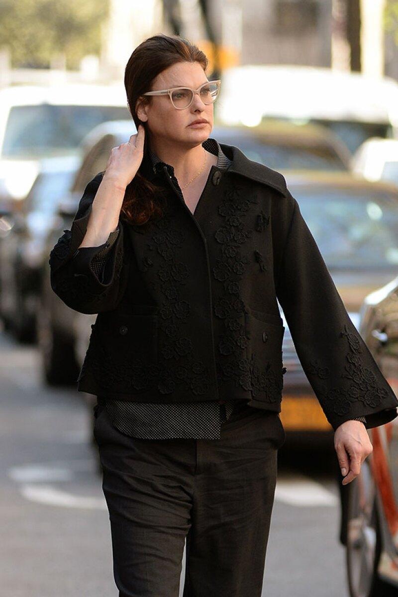 La supermodelo lució irreconocible por las calles de Nueva York.