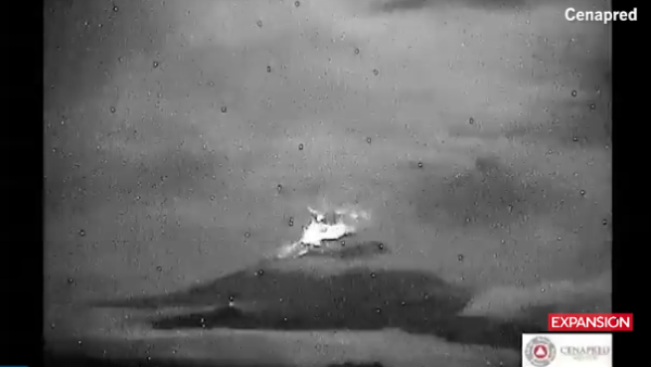 El volcán Popocatépetl tuvo una madrugada muy activa