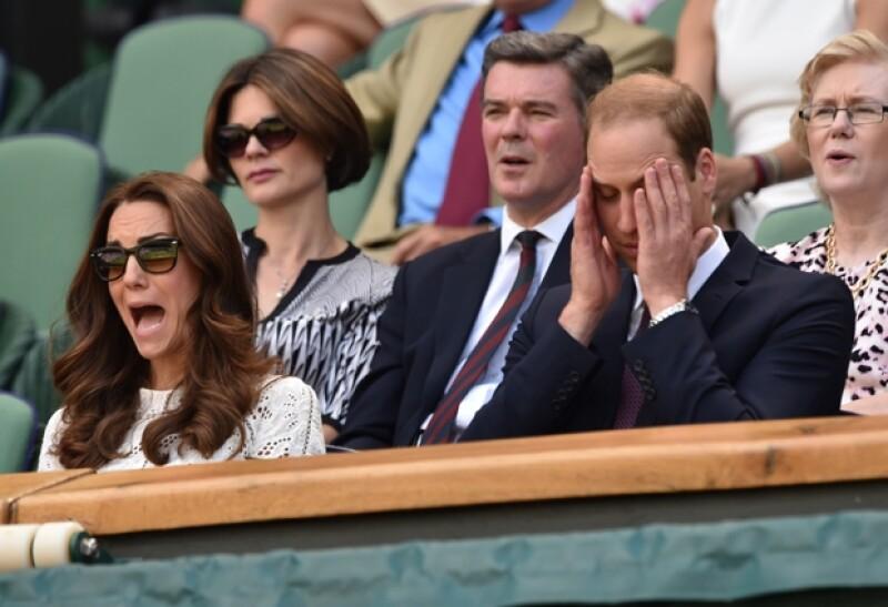 Los duques de Cambridge no pudieron ocultar su emoción ante el encuentro en donde su favorito se vio superado.