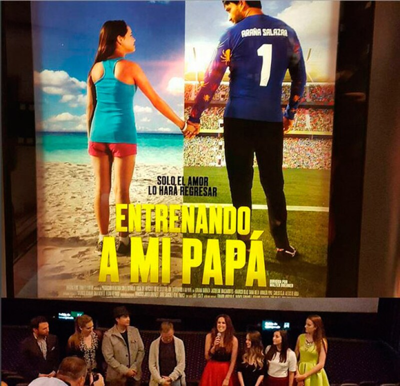 Martín conpartió esta fotografía de la premier de la cinta, que se estrena este 25 de septiembre a nivel nacional.