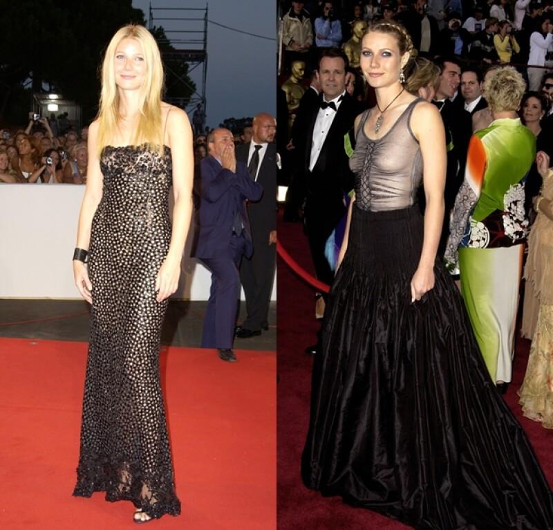 A la derecha, el vestido McQueen que dio tanto de qué hablar.