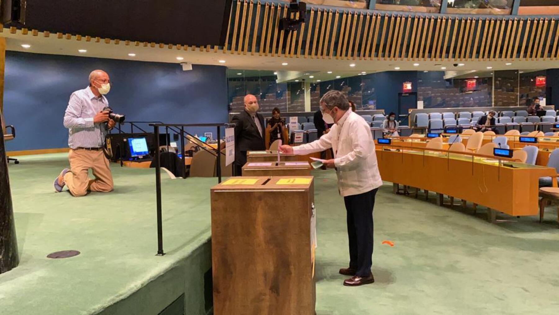Juan Ramón en el Consejo de Seguridad