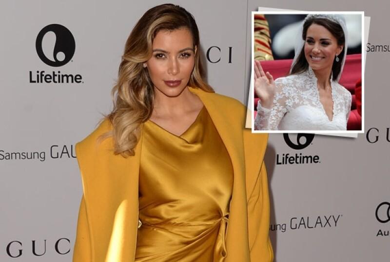 Se dice que la socialité está planeando casarse con un vestido diseñado por Sarah Burton para Alexander McQueen que se parezca al que lució la duquesa en su boda.