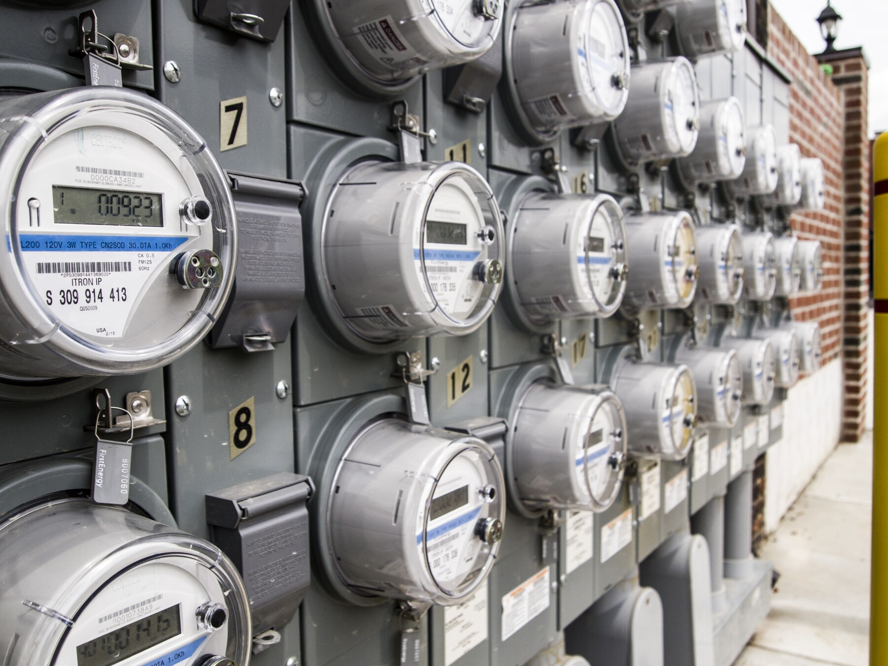 Panel of electric meters