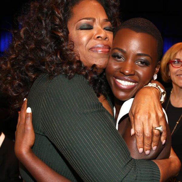 Oprah Winfrey y Lupita Nyong´o.