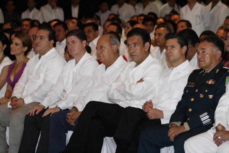 Enrique Peña Nieto, Rubén Moreira, entre otros invitados.