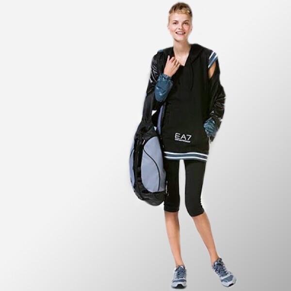 Con un toque más juvenil, este 'outfit' te permitirá salir del 'gym' sin perder tu estilo vanguardista.
