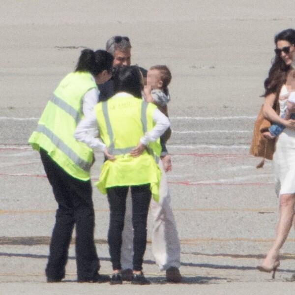 EXC George Clooney, Amal Clooney, Twins