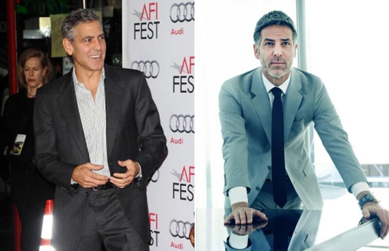 El modelo y actor argentino luce hasta el mismo hairstyle y el color de pelo de George.