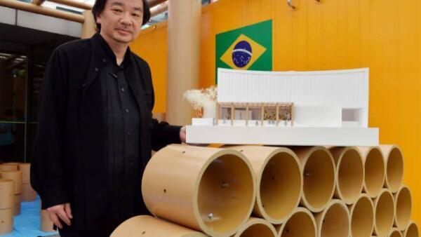 Shigeru Ban construye pabell�n del Mundial en la embajada de Brasil en Jap�n