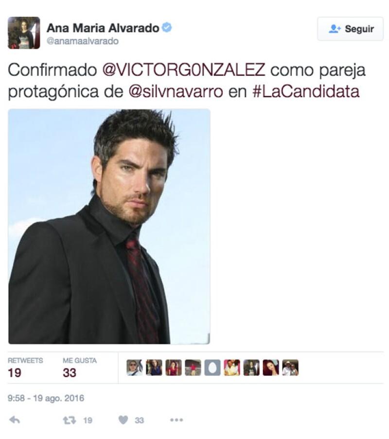 """Victor González será la pareja de Silvia Navarro en la nueva telenovela """"La Candidata"""""""