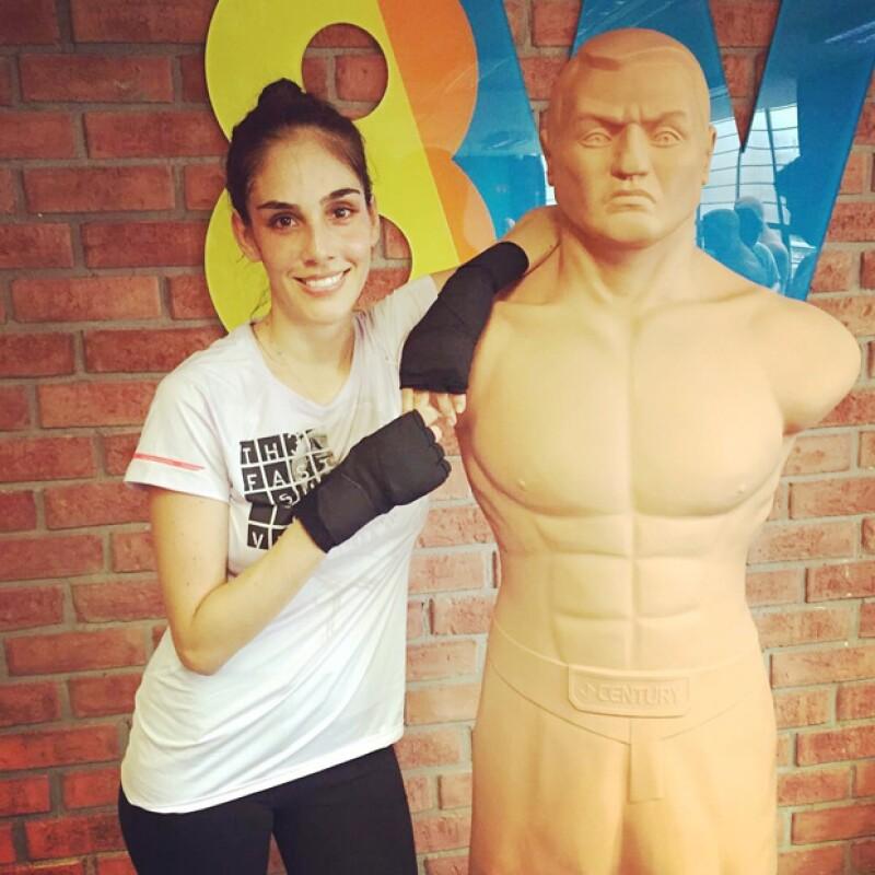 Uno de los workouts favoritos de Sandra es 8W, con el que mantiene su figura.