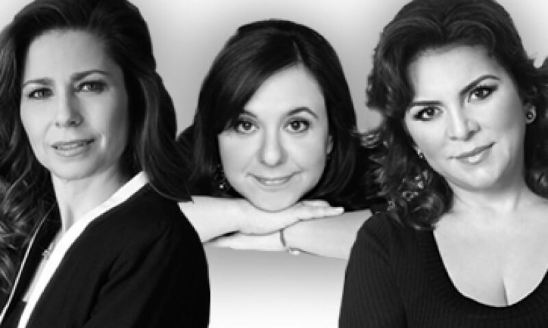 Sandra Sánchez (izq.) Marcela Turatti (centro) e Ivonne Ortega forman parte de las 31 mujeres elegidas por la revista Quién por ser modernas, eclécticas y dominar espacios antes vedados para el género femenino. (Foto: Especial)