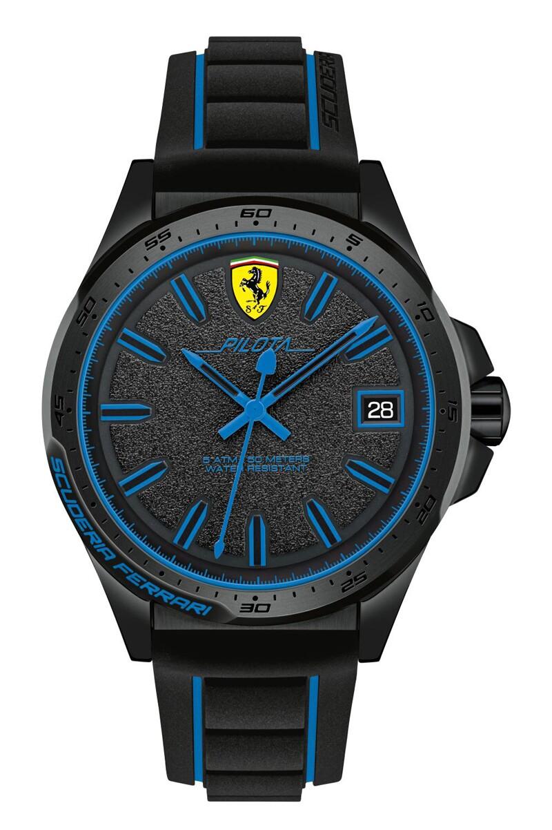 Diseño con detalles en azul