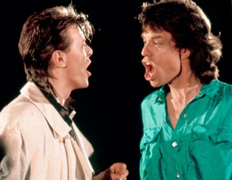 Con David Bowie. Los cantantes sentían gran admiración el uno por el otro.