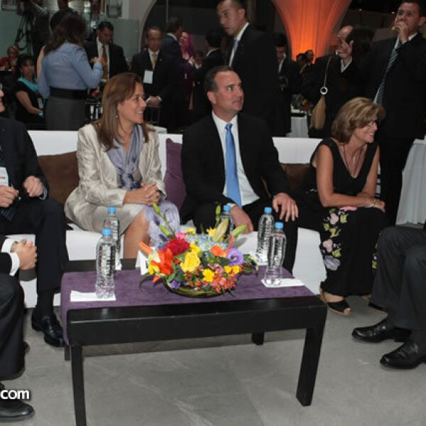 Francisco Acosta, Isaac Chertorivski, Margarita Zavala, Jaime Graña, Alicia Arguelles y Emilio Azcárraga