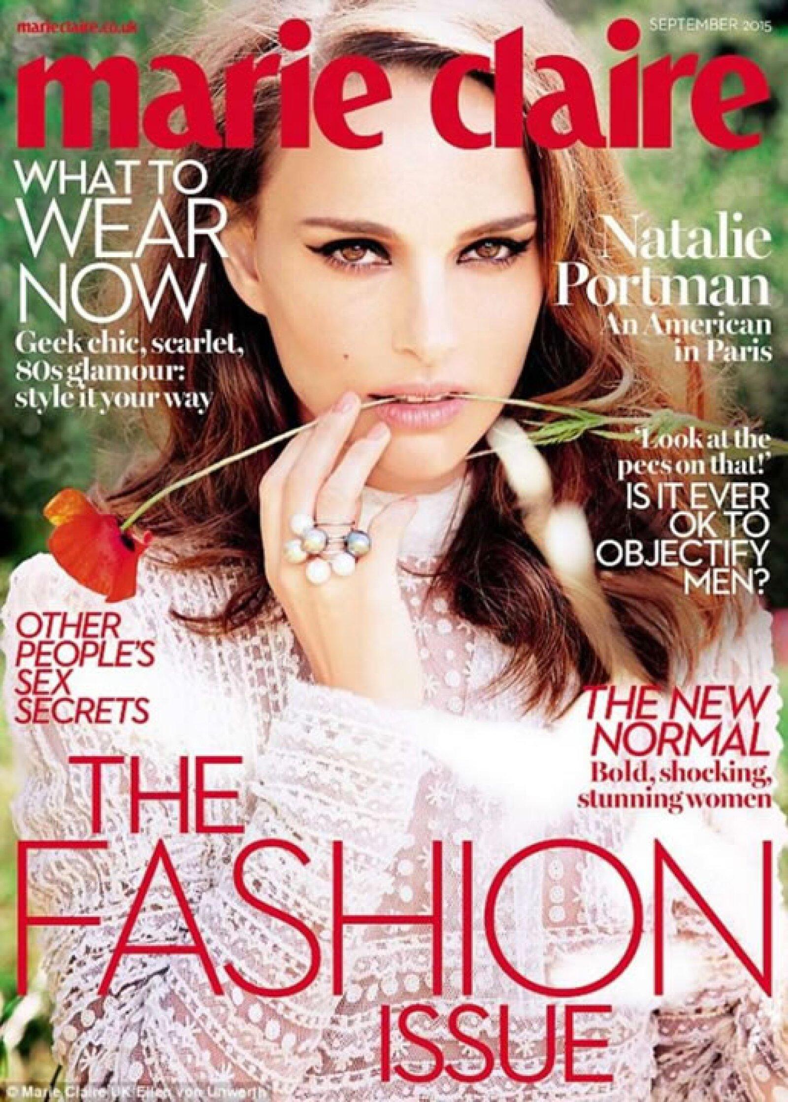 Natalie Portman deslumbra para Marie Claire UK.