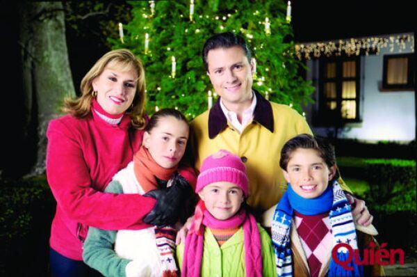 Mónica Pretelini, Enrique Peña Nieto, Paulina Peña Nieto Pretelini, Nicole Peña Nieto Pretelini, Alejandro Peña Nieto Pretelini