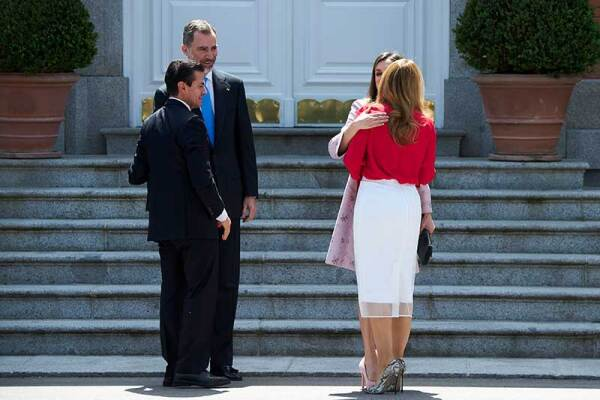 Angelica Rivera, Enrique Peña Nieto, Letizia y Felipe