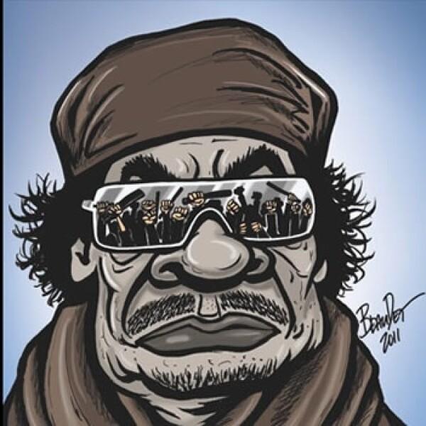 Gadhafi - caricatura - Marc Beaudet