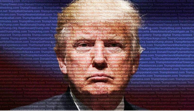 Trump en la web