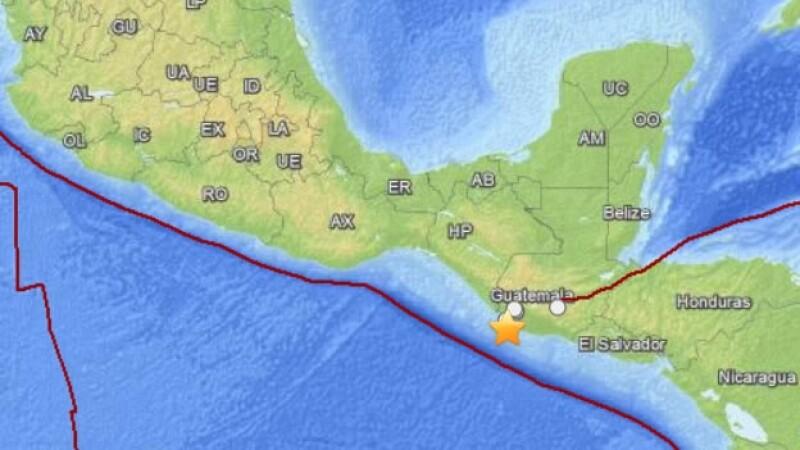 Un sismo se registra en las frontera entre México y Guatemala
