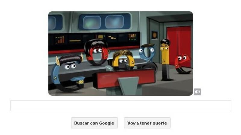 Star Trek doodle Google