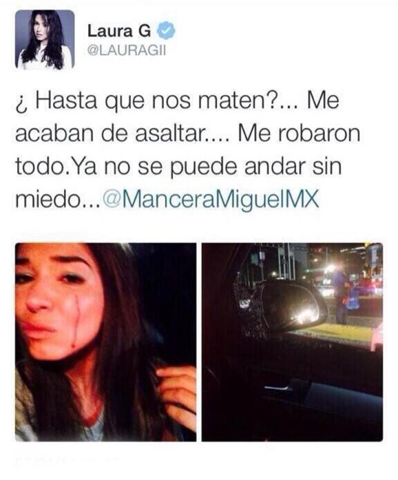 Tras ser víctima de un robo en la Ciudad de México, la conductora compartió una selfie llorando que originó una ola de críticas en su contra.