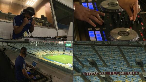 Estos DJ animan los partidos de futbol sin público en el Maracaná.