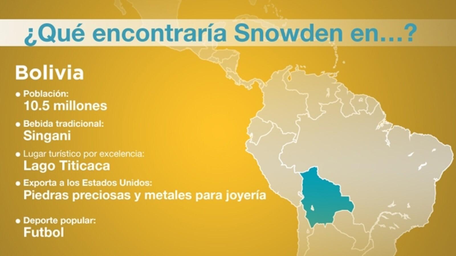 snowden bolivia