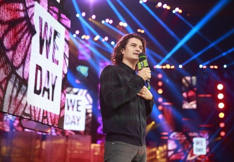 Orlando Bloom durante su participación en `We day´ayer por la noche.