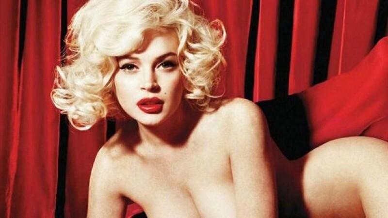 Lindsay Lohan se muestra muy sensual en la sesión de fotos para Playboy.
