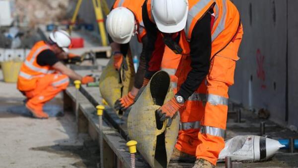 Trabajadores construccion
