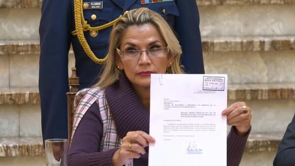Presidenta de Bolivia pide al Congreso aprobar ley para nuevas elecciones