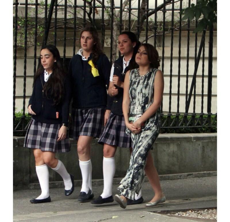 La actriz se tomó un descanso con sus amigas del Miraflores.