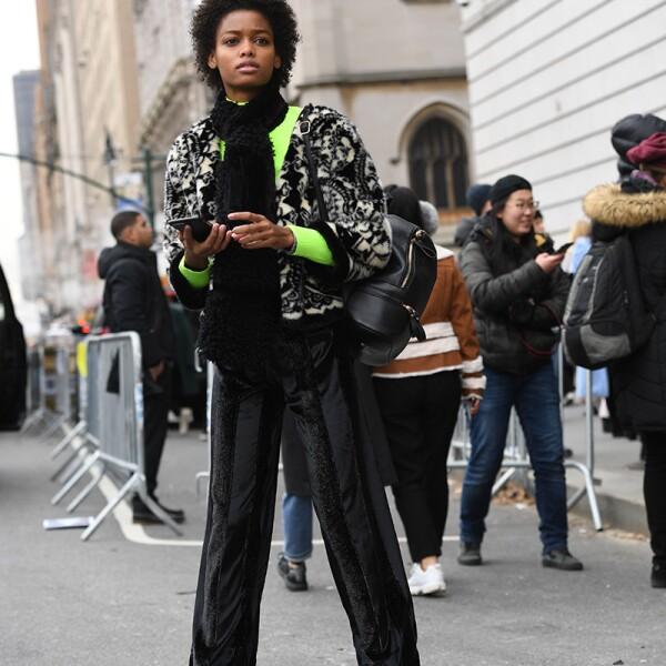 Street Style, Fall Winter 2019, New York Fashion Week, USa - 11 Feb 2019