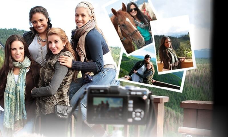 Roxana, Alessandra, Karla y Nunzia en su primer día en la montaña