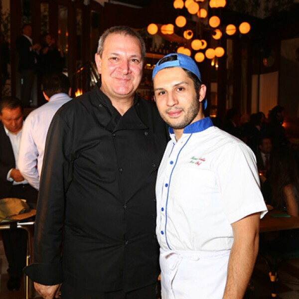 Chef Giuseppe de Nino y Manuel Scalia