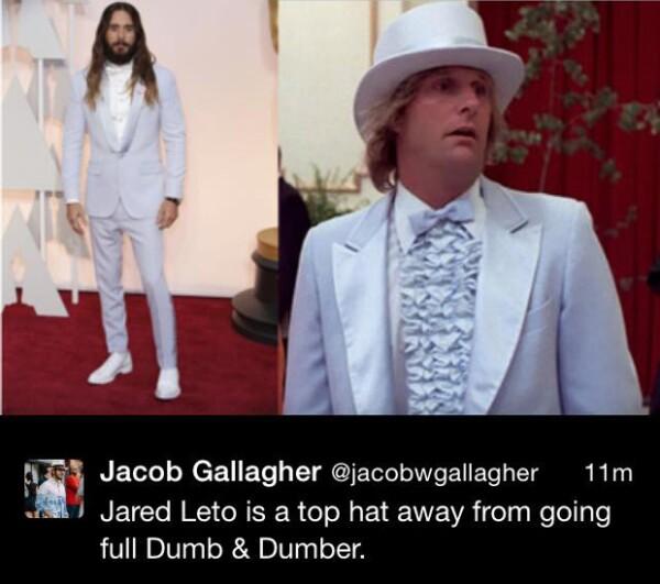 El sombrero es una pieza que tal vez le faltó a Jared Leto.